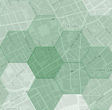 Locomizer geo-behavioral interest heatmap sample